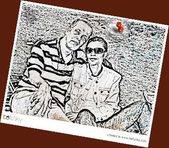 sketch of Paul and Daille