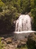 tropical scenery, rock waterfall