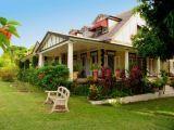 Jamaican scene, photos of old stone houses