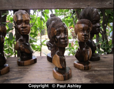 wood sculpture heads