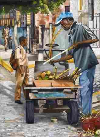 Man selling cane