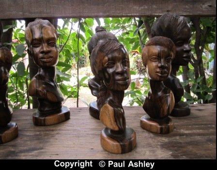 wood sculpture heads